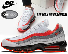 NIKE AIR MAX 95 ESSENTIAL white/bright crimson-black ナイキ エアマックス 95 スニーカー エア マックス 95 エッセンシャル AIRMAX