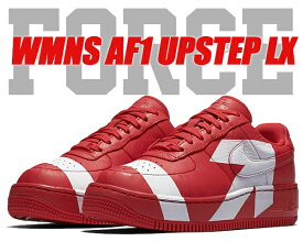 NIKE WMNS AF1 UPSTEP LX university red/university red【ナイキ ウィメンズ AF1 アップステップ スニーカー レディース エア フォース 1 AIR FORCE 1 レッド】