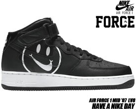 new style a35c4 84738 NIKE AIR FORCE 1 MID HAVE A NIKE DAY black black-white ao2444-