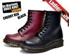 Dr.Martens WMNS 8HOLE BOOTS 1460W(BLACK/CHERRY RED)送料無料 ドクターマーチン 8ホール ショート ブーツ レディース チェリーレッド 11821600 ブラック 11821006 レースアップ ワーク レディス