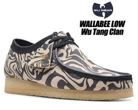 CLARKS WALLABEE LOW Wu Tang Clan NAVY MULTI 47057 クラークス ワラビー ロー ウータン・クラン ネイビーマルチ メンズ Ice Cream Glaciers of Ice メンズ シューズ