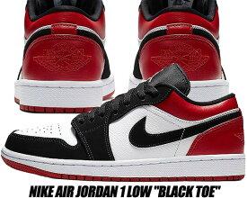 factory authentic e1289 8b159 NIKE AIR JORDAN 1 LOW BLACK TOE white black-gym red 553558-116