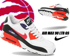 NIKE AIR MAX 90 LTR (GS) white/bright crimson-black 833412-117 ナイキ エアマックス 90 LTR GS スニーカー RAPTORS ホワイト ブラック パープル