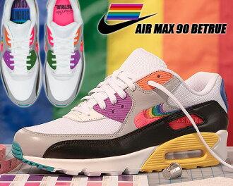 outlet store d767f e628c NIKE AIR MAX 90 BETRUE wht/multi-color-blk cj5482-100 Kie Ney AMAX 90 B toe  lumen gap Dis women sneakers white rainbow multicolored LGBT Gilbert Baker