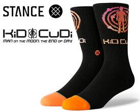 STANCE KID CUDI LOGO BLACK m558c19kcl-blk スタンスソックス キッド・カディ 靴下 メンズ CLASSIC MIDIUM CUSHION POLY BLEND CREW HEIGHT ANTHEM