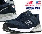 NEWBALANCEM990NV5MADEINU.S.A.ニューバランス990V5メンズスニーカーネイビーM990スウェード