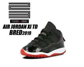 NIKE JORDAN 11 RETRO (TD) BRED 2019 black/true red-white 378040-061 ナイキ ジョーダン 11 TD スニーカー トドラー AJ XI
