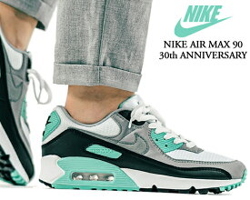 NIKE AIR MAX 90 30th ANNIVERSARY white/particle grey-hyper turquoise cd0881-100 ナイキ エアマックス 90 30周年 スニーカー メンズ AM90 ターコイズ