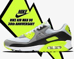 NIKEAIRMAX9030thANNIVERSARYwhite/particle-volt-blackcd0881-103ナイキエアマックス9030周年スニーカーメンズAM90ボルトOG