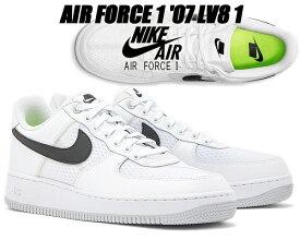 NIKE AIR FORCE 1 07 LV8 1 white/black-pure platinum ci0060-100 ナイキ エアフォース 1 07 スニーカー AF1 ホワイト メッシュ 軽量 ホワイト ブラック エレベート