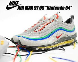 NIKE AIR MAX 97 QS Nintendo 64 atmosphere grey/habanero red ci5012-001 ナイキ エア マックス 97 ニンテンドー64 スニーカー AM97 シルバー グレー レッド イエロー グリーン クイックストライク