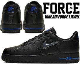 NIKE AIR FORCE 1 JEWEL black/dark grey-racer blue ct3438-002 ナイキ エアフォース 1 ジュエル スニーカー メンズ ブラック ジュエル スウッシュ