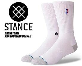 【スタンスソックス】STANCE NBA Logoman Crew II WHITE m558a18log WHT 靴下 メンズ NBA stancehoop BASKETBALL