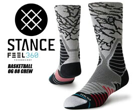 【スタンスソックス】STANCE OG 88 CREW BLACK m559ci9og8-blk 靴下 黒 メンズ stancehoop BASKETBALL バスケットボール ハイソックス FEEL360