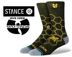 STANCE HIVE CREW BLACK a545c20hiv-blk スタンスソックス ウータン・クラン Wu-Tang Clan (ウータン・クラン) コラボモデル ブラック 靴下 ハイソックス