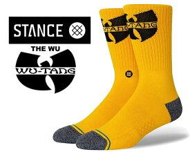 STANCE THE WU YELLOW a556c20ewu-yel スタンスソックス ウータン・クラン Wu-Tang Clan (ウータン・クラン) コラボモデル 靴下 ハイソックス
