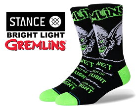 STANCE BRIGHT LIGHT BLACK a558c20bri-blk スタンスソックス グレムリン GREMLINS (グレムリン) コラボモデル 靴下 ブラック グリーン
