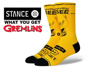 STANCE WHAT YOU GET BLACK YELLOW a558c20wha-blk GREMLINS (グレムリン) コラボモデル 靴下