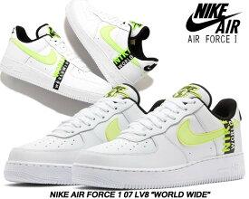 NIKE AIR FORCE 1 07 LV8 WORLD WIDE PACK white/barey volt-volt-black ck6924-101 ナイキ エア フォース 1 07 エレベイト スニーカー AF1 LOW ワールドワイド Worldwide