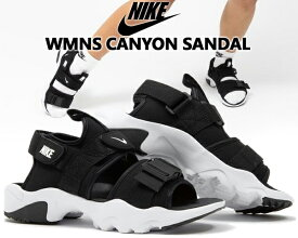 NIKE WMNS CANYON SANDAL black/white-black cv5515-001 ナイキ ウィメンズ キャニオン サンダル レディース スニーカー サンダル スポーツ ストラップ