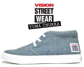 VISION STREET WEAR YUMA CHUKKA DENIM vsw-6354-116 ヴィジョン ユーマ チャッカ スニーカー スケート ビジョン ストリート ウェア ピンク デニム
