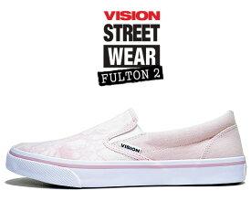 VISION FULTON 2 PINK vsw-9151-140 ヴィジョン フルトン 2 スリッポン スニーカー スケート ビジョン ストリート ウェア ピンク