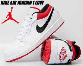 NIKE AIR JORDAN 1 LOW white/gym red-black 553558-118 ナイキ エアジョーダン 1 ロー スニーカー AJ1 ホワイト ジムレッド ブラック