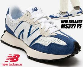 NEW BALANCE MS327PF WHITE/BLUE PRIMARY PACK width D ニューバランス 327 スニーカー ホワイト ブルー プライマリーパック