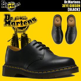 Dr.Martens 1461 3EYE GIBSON BLACK 送料無料 ドクターマーチン 3ホール シューズ 1461Z 3EYE GIBSON SHOE 11838002 メンズ カジュアルシューズ ドクター マーチン ギブソン あす楽