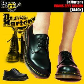 Dr.Martens WMNS 3EYE GIBSON 1461W BLACK ドクターマーチン レディース 3ホール ギブソン シューズ 1461Z 3EYE GIBSON SHOE 11837002 1461w カジュアルシューズ レザー 靴
