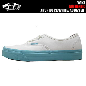 VANS AUTHENTIC POP DOTS WHITE/ AQUA SEA VN0A348ALS2