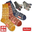 Healthknit ヘルスニット 3足セット 靴下 メンズ クルー ソックス ハイソックス 送料無料 通販M3【6H0658】