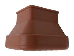 光 フリーサイズ脚キャップ茶角 30~40mm【D2021】