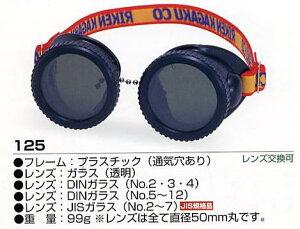 ガリレオ・湯川学(福山雅治)使用モデル ゴーグル プラスチック(通気穴あり) 125(JIS ガラス) 濃度:2〜7 RIKEN(理研化学)0126PUP2F