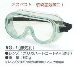 Goggles Soft vinyl RG-1 (transparent) AF RIKEN (RIKEN chemistry) (asbestos-H1N1 flu)