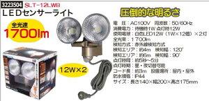 LEDセンサーライト 1700lm SLT-12WB 小型 自動点灯照明 防犯 【REX2018】