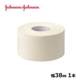 ジョンソンエンドジョンソン J&J コーチ 38mm x 13.7m 1本 テーピングテープ バラ売り ジョンソン&ジョンソン LINDSPORTS リンドスポーツ