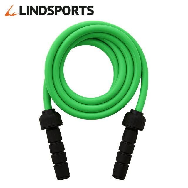 LINDSPORTS ウェイトジャンプロープ (緑・約1kg)トレーニング用縄跳び[なわとび/ダイエット/ヘビージャンプロープ/ジャンピングロープ/ヘビーロープ/ウエイトジャンプロープ/大人]