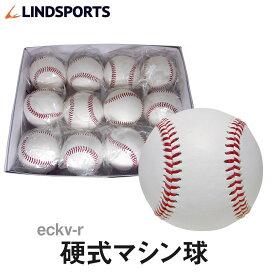 LINDSPORTS 硬式マシン球(赤糸) ウール100% 人工皮革 1ダース(12球入) 硬式野球 ボール【硬式野球/硬式ボール/練習用ボール/1ダース売り】