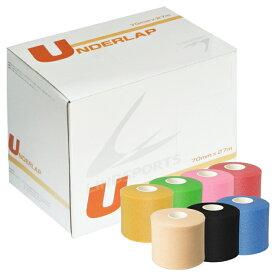 アンダーラップテープ L-アンダーラップ 70mm ×27m お得な48本セット テーピング 皮膚 保護 テープ LINDSPORTS リンドスポーツ