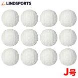 LINDSPORTS練習用軟式野球ボールJ号練習球(小学生用)1ダース(12球入)【軟式野球/草野球/軟式ボール/練習用ボール/ダース売り】