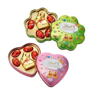 リンツ Lindt チョコレート リンツ ゴールドバニー缶 2種<グリーンクローバー/ピンクハート>【チョコ ギフト 詰め合わせ かわいい お菓子 おしゃれ 輸入 個包装 イースター イースターバ