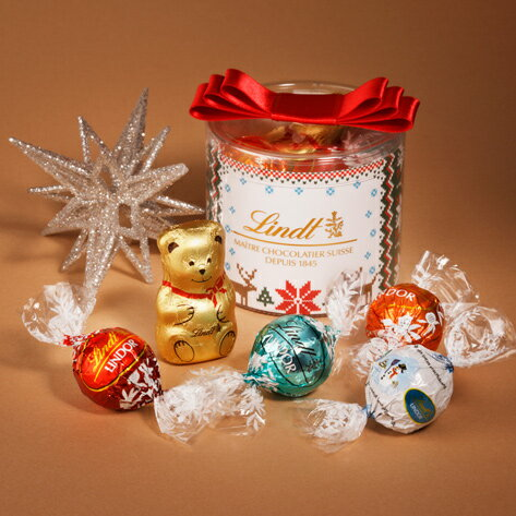 リンツ Lindt チョコレート クリスマス リンドール リボン ギフト ボックス 5種8個入り【チョコ アソート リンドールチョコレート クリスマスプレゼント チョコレートギフト リンツチョコレート おしゃれ かわいい お菓子 スイーツ 詰め合わせ 輸入菓子 誕生日】