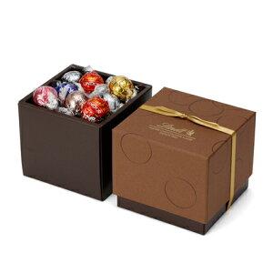 リンツ Lindt チョコレート リンドールスクエアギフトボックス 7種27個入り 【リンドール ギフト お菓子 プチギフト 詰め合わせ かわいい おしゃれ チョコ プレゼント 個包装 大量 バレンタイ