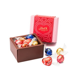 リンツ チョコレートLindt バレンタイン リンドールクラシックギフトボックス12個入り【限定 チョコレート チョコ リンドール バレンタインチョコ ギフト 詰め合わせ 義理チョコ おしゃれ か
