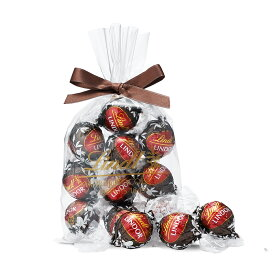 リンツ Lindt チョコレート リンドール ダークストロベリー 10個入り|リンツチョコ リンツチョコレート お菓子 チョコ ギフト 誕生日 プチギフト かわいい バレンタインデー バレンタインチョコ バレンタインチョコレート 個包装 会社 職場 義理チョコ