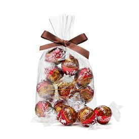 リンツ Lindt チョコレート リンドール ダブルチョコレート 10個入り|お中元スイーツ お中元 ギフト 洋菓子ギフト かわいい お菓子 スイーツ プレゼント 可愛い 手土産 内祝い 内祝いお返し お礼 リンツチョコ 誕生日 退職 職場