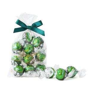 リンツ Lindt チョコレート リンドール ミント 10個入り【チョコ ギフト かわいい 詰め合わせ おしゃれ お菓子 大量 職場 ばらまき 個包装 プチギフト お中元 プレゼント 父の日ギフト 父の日