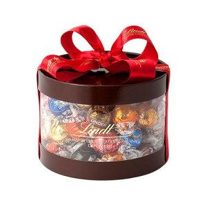 リンツ Lindt チョコレート リンドール 9種類50個入り ギフト ボックス【チョコ ギフト かわいい 詰め合わせ おしゃれ お菓子 個包装 プチギフト スイーツ プレゼントお返し スイス 父の日 お
