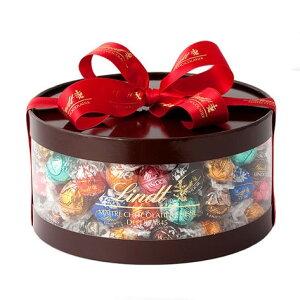 リンツ Lindt チョコレート リンドール ギフト ボックス 11種 100個入り【チョコ ギフト かわいい 詰め合わせ おしゃれ お菓子 個包装 プチギフト スイーツ プレゼントお返し スイス 父の日 お